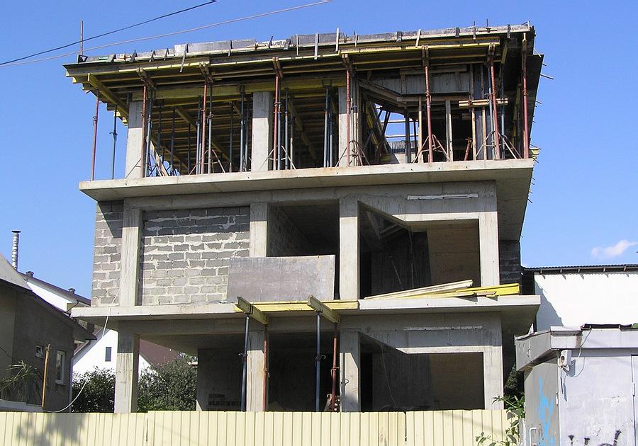 Строительство домов железобетонный каркас ребристая плита армирование